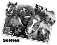 Horsing Around Selfie